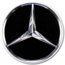 Genuine Mercedes Chrome Black Caps