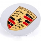 Porsche Centre Caps 955 Convex Coloured Crest