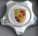 Porsche Centre Caps 955 Aluminium Star Coloured Crest