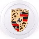 Porsche Centre Caps 993-996 Concave Coloured Crest