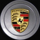 Porsche Centre Caps 986 Seal Grey Metallic Coloured Crest