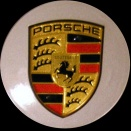 Porsche Centre Caps 958 Convex Coloured Crest