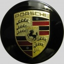 Porsche Centre Caps 958 Convex Black Coloured Crest