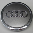 Genuine Audi Small Metallic Grey Centre Caps