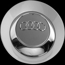 Genuine Audi Large Polished Silver Centre Caps