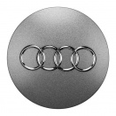Genuine Audi Medium Silver Centre Caps