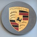 Porsche Centre Caps 991 Concave Titanium Dark Coloured Crest
