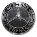 Genuine Mercedes Black Roadster Centre Caps