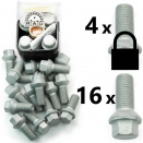 Bolt Pack 3L: Rust Resistant Bolts and High Security Locking Wheelbolts