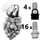 Bolt Pack 8L: Rust Resistant Bolts and High Security Locking Wheelbolts