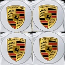 Porsche Centre Cap Set Convex GT Silver Coloured Crest