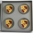 Porsche Centre Cap Set Concave GT Silver Coloured Crest