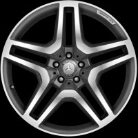 "21"" AMG 5 Twin Spoke wheels A16640125027X25"