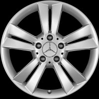 "17"" Mercedes 5 Twin Spoke wheels B66474442 B66474455"