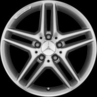 "17"" AMG 5 Double Spoke wheels A20440123007X25 A20440124007X25"