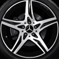 "18"" AMG 5 Spoke wheels A17640106027X23"