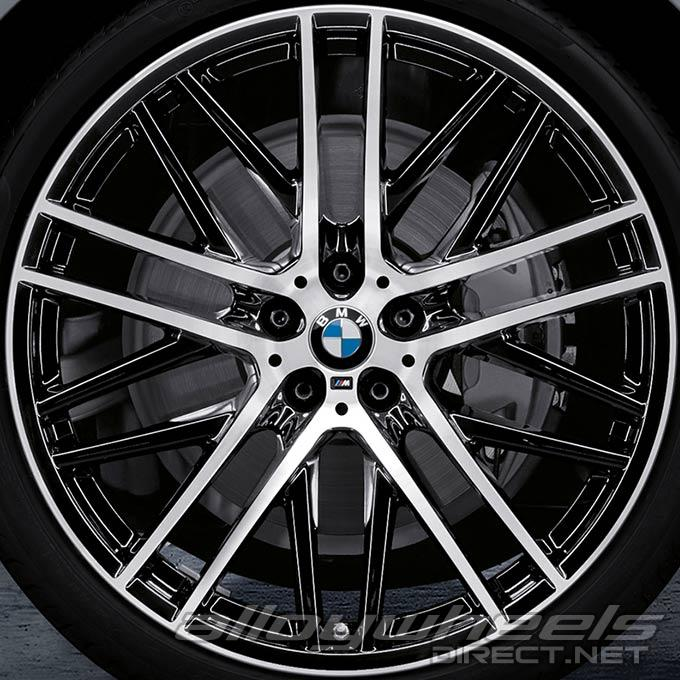 21 Quot Bmw 650m Wheels In Bicolour Black With Burnished Face