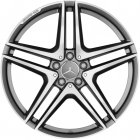 "new 20"" AMG 5 Twin Spoke Forged alloy wheels"