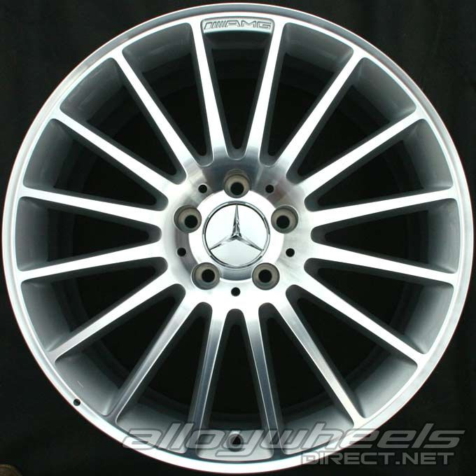 19 Quot Amg V 16 Spoke Wheels In High Sheen With Standard