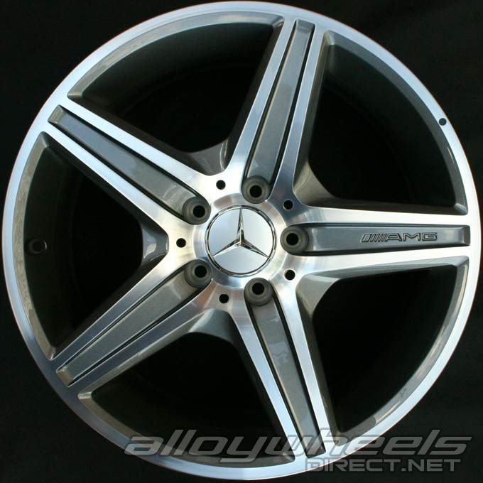 18 Quot Amg Vi Wheels In High Sheen With Titanium Grey Alloy Wheels Direct 43294