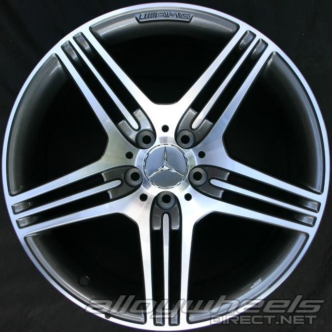 19 Quot Amg Vii Wheels In High Sheen With Titanium Grey