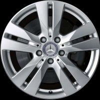 "16"" Mercedes 5 Twin Spoke wheels A21240102027X07"