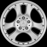 "17"" Mercedes Sertan wheels B66471601 B66471602"