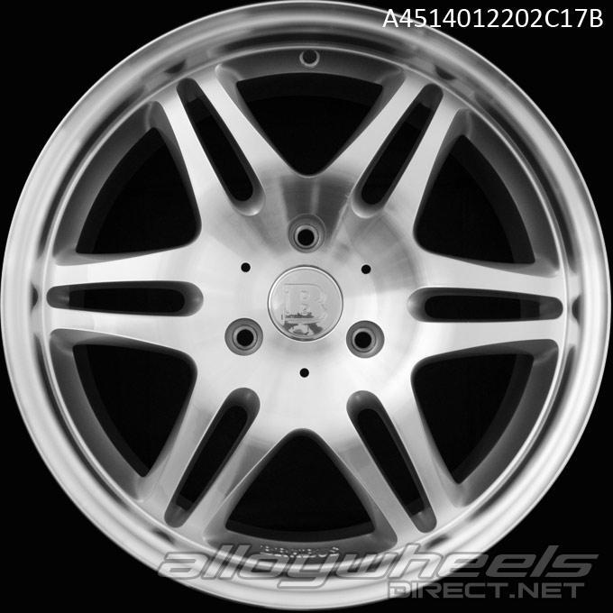 17 Quot Smart Brabus Mono Vi Wheels In Silver Polished