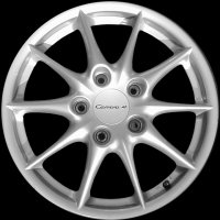 "17"" Porsche Carrera II wheels 99636212402 99636212802"