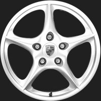 "18"" Porsche Carrera wheels 99636213607 99636214007"