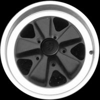 "16"" Porsche Black Star wheels 91136211300 91136211500"
