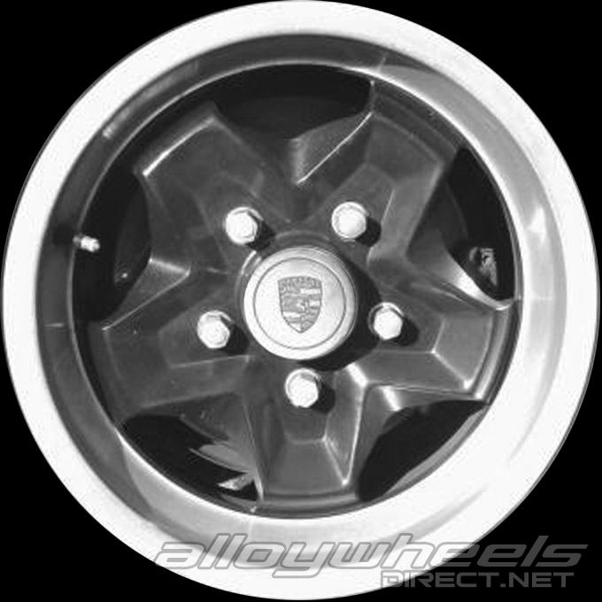 15 Quot Porsche Cookie Cutter Wheels In Black With Silver