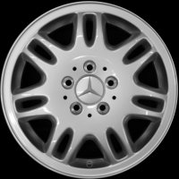 "16"" Mercedes 7 twin spoke wheels B66560311"