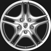 "18"" Porsche Cayenne Turbo II wheels 955362136509A1"