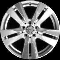 "17"" Mercedes 5 Double Spoke wheels A20740107027X07 A20740102027X07"