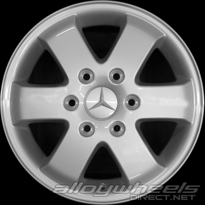 16 Quot Mercedes 6 Spoke Wheels In Standard Silver Alloy