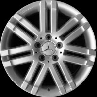 "17"" Mercedes 7 twin spoke wheels A2044010502659765 A20440103029765"