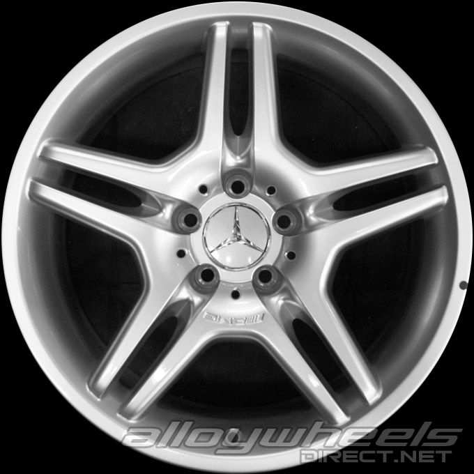18 Quot Amg Iv Wheels In Sterling Silver Alloy Wheels Direct