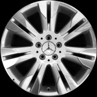 "18"" Mercedes 7 Twin Spoke wheels B66474526 B66474527"