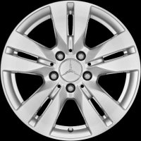 "17"" Mercedes 5 Twin Spoke wheels A20440176029765 A20440177029765"