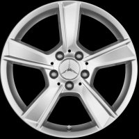 "17"" Mercedes 5 Spoke wheels A2044018702649765 A20440190029765"