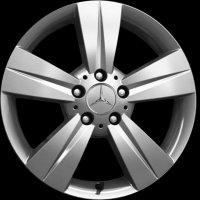 "17"" Mercedes 5 Spoke wheels B66570313"