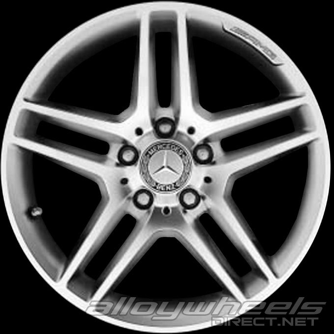 17 amg 5 twin spoke wheels in high sheen with standard. Black Bedroom Furniture Sets. Home Design Ideas