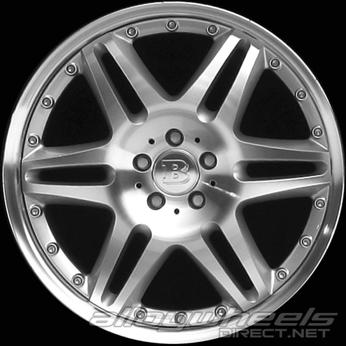 20 Quot Brabus Monoblock Vi Wheels In Silver Polished