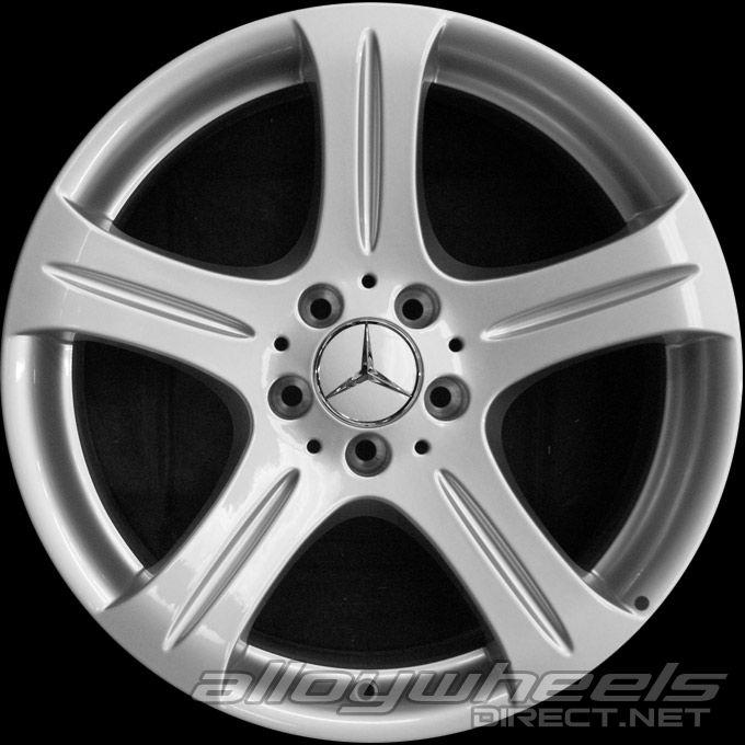 18 Quot Mercedes 5 Spoke Wheels In Titanium Silver Alloy