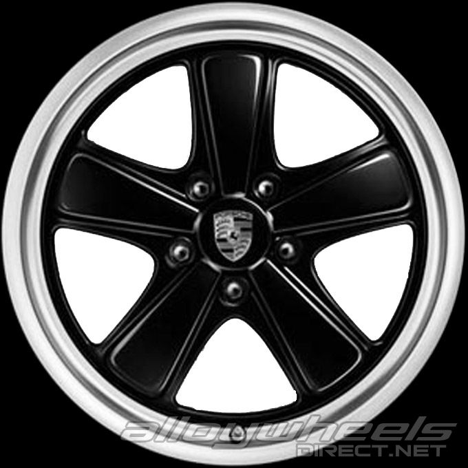 19 Quot Porsche Sport Classic Wheels In Two Tone Black Silver