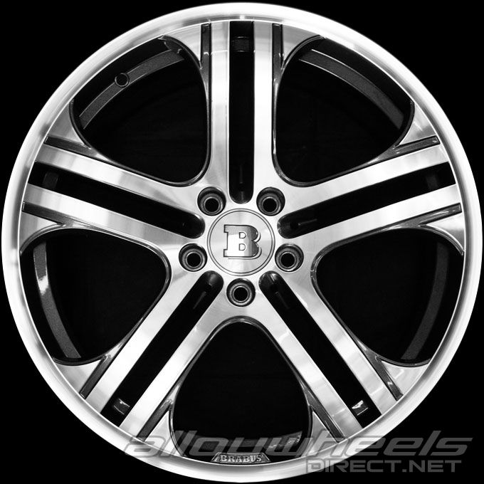 19\u0026quot; Brabus Monoblock Q wheels in Titanium  Full Face Polished  Alloy Wheels Direct 1261589