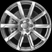 "17"" Audi 10 Spoke wheels 8P0601025DR"