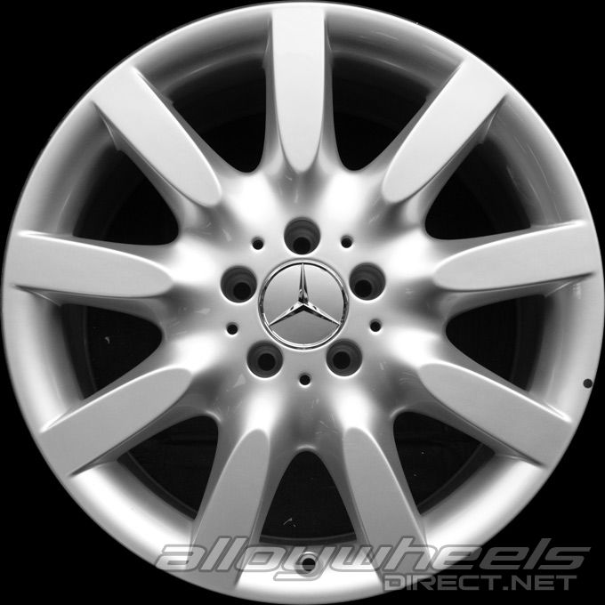 18 Quot Mercedes 9 Spoke Wheels In Sterling Silver Alloy