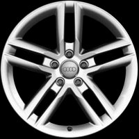 "19"" Audi 5 Twin Spoke wheels 4H0601025AS"